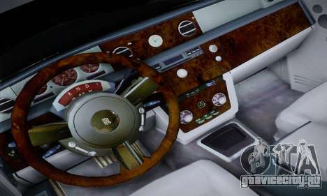 Rolls-Royce Phantom для GTA San Andreas вид изнутри