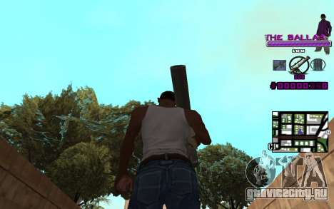 C-HUD The Ballas Gang для GTA San Andreas третий скриншот
