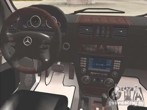 Mercedes-Benz G500 для GTA San Andreas салон