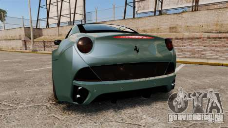 Ferrari California для GTA 4 вид сзади слева