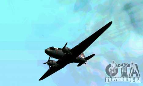 C-47 Дакота USAF для GTA San Andreas вид изнутри
