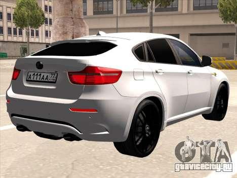BMW X6 Hamann для GTA San Andreas вид сзади