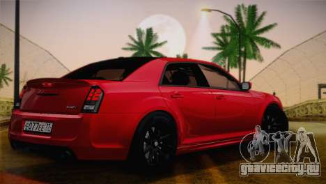 Chrysler 300 SRT8 Black Vapor Edition для GTA San Andreas вид сзади