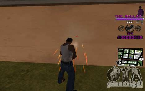 C-HUD The Ballas Gang для GTA San Andreas второй скриншот