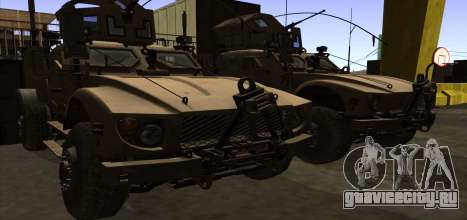 M-ATV из Call of Duty: Ghosts для GTA San Andreas вид снизу