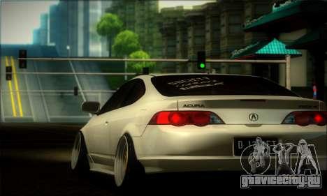 Acura RSX Stance для GTA San Andreas вид сзади