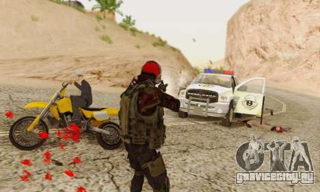 Blood On Screen для GTA San Andreas пятый скриншот