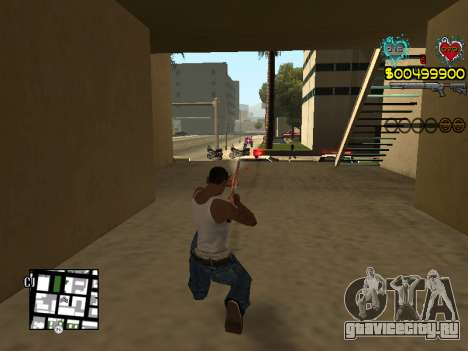 C-HUD Guns для GTA San Andreas девятый скриншот