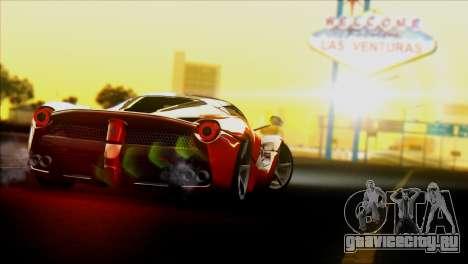 Ferrari LaFerrari 2014 для GTA San Andreas вид сзади слева