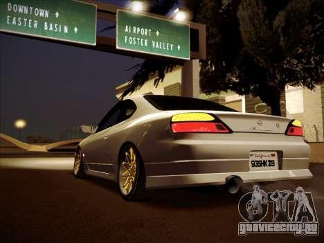 Nissan Silvia S15 Stanced для GTA San Andreas вид слева