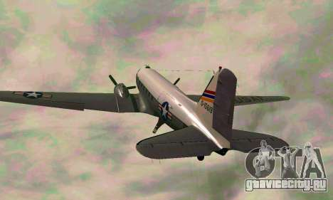 C-47 Дакота USAF для GTA San Andreas вид сзади