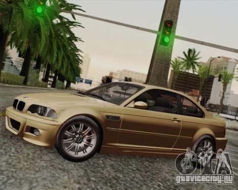 BMW M3 E46 2005 для GTA San Andreas вид сзади слева
