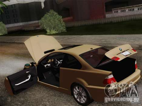 BMW M3 E46 2005 для GTA San Andreas вид снизу