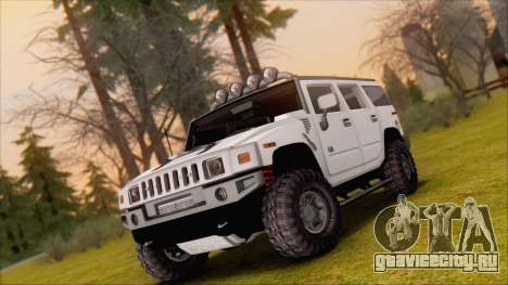 Hummer H2 Tunable для GTA San Andreas вид сбоку