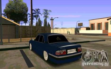 ГАЗ 31105 для GTA San Andreas вид изнутри