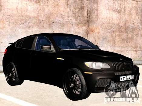 BMW X6 Hamann для GTA San Andreas вид снизу