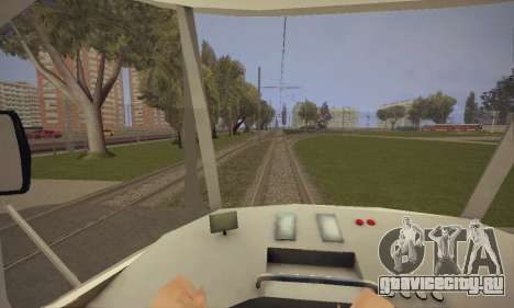 Tatra T3SU для GTA San Andreas вид сзади