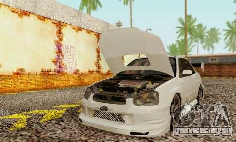 Subaru Impreza WRX фондовой для GTA San Andreas вид слева