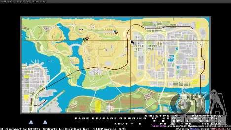 Карта в реальном времени для GTA San Andreas третий скриншот