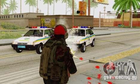 Blood On Screen для GTA San Andreas четвёртый скриншот
