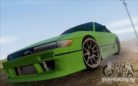 Nissan Silvia S13 Vertex для GTA San Andreas вид изнутри