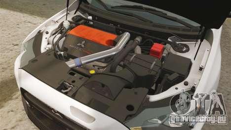 Mitsubishi Lancer Evolution X FQ400 (Cor Rims) для GTA 4 вид изнутри