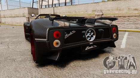Pagani Zonda C12 S Roadster 2001 PJ3 для GTA 4 вид сзади слева