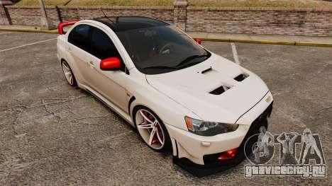 Mitsubishi Lancer Evolution X FQ400 (Cor Rims) для GTA 4 вид снизу