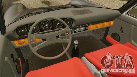 Porsche 911 Targa 1974 [Updated] для GTA 4 вид изнутри