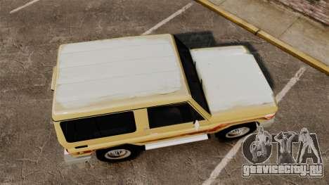 Toyota Land Cruiser 70 2014 для GTA 4 вид справа