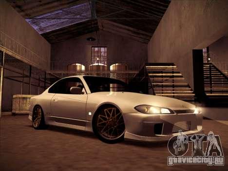 Nissan Silvia S15 Stanced для GTA San Andreas вид сзади