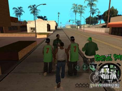 C-HUD Groove Street для GTA San Andreas восьмой скриншот