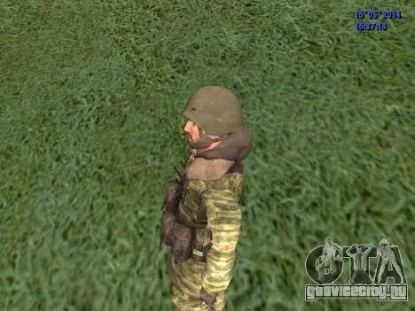Военный в камуфляже для GTA San Andreas третий скриншот