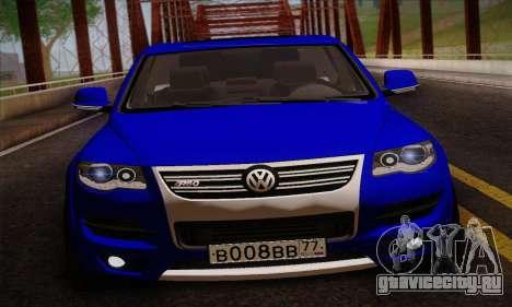 Volkswagen Touareg 2010 для GTA San Andreas вид сзади слева