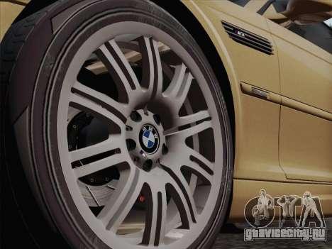 BMW M3 E46 2005 для GTA San Andreas вид изнутри