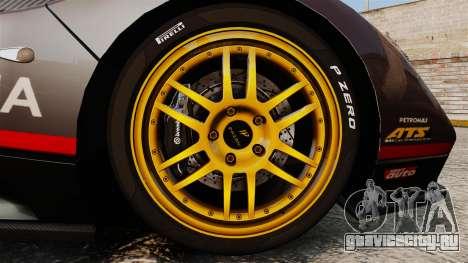 Pagani Zonda C12 S Roadster 2001 PJ4 для GTA 4 вид сзади
