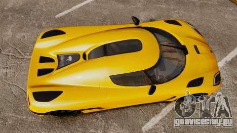 Koenigsegg Agera TE [EPM] для GTA 4 вид справа