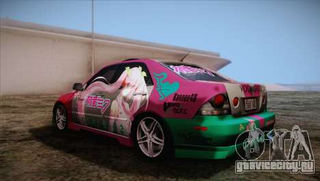 Toyota Altezza Sakura Miku Itasha для GTA San Andreas вид слева