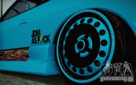 Nissan 240SX Drift Stance для GTA San Andreas вид сзади