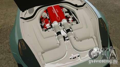 Ferrari California для GTA 4 вид изнутри