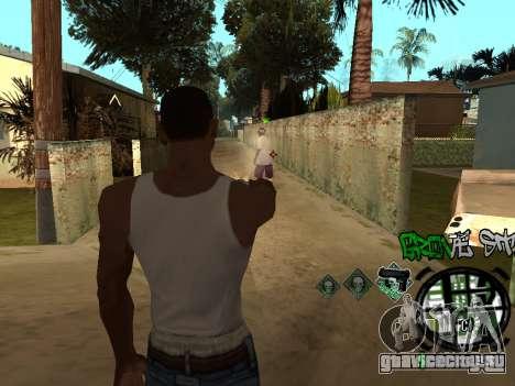 C-HUD Groove Street для GTA San Andreas шестой скриншот