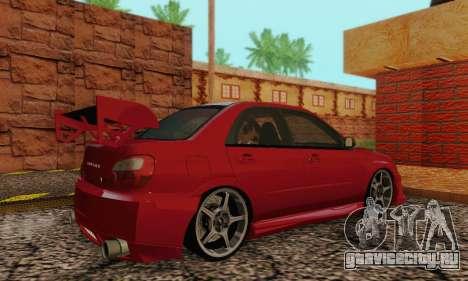 Subaru Impreza WRX фондовой для GTA San Andreas вид справа
