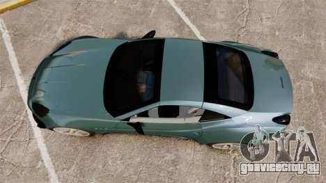 Ferrari California для GTA 4 вид справа