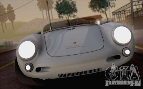 Porsche 550 Spyder 1955 для GTA San Andreas вид сзади
