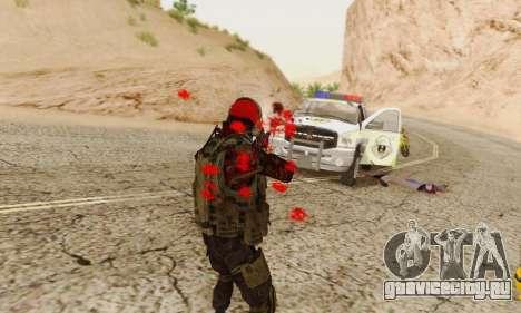 Blood On Screen для GTA San Andreas шестой скриншот