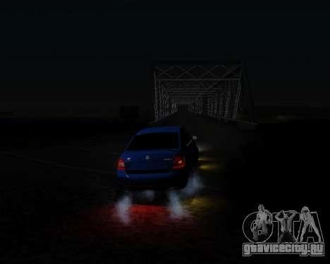 Skoda Octavia A7 RS для GTA San Andreas вид изнутри