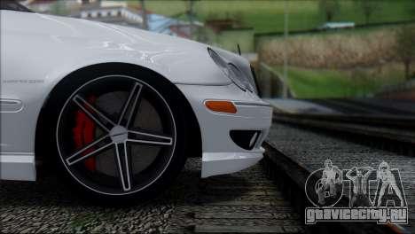 Mercedes-Benz C32 Vossen для GTA San Andreas вид сзади