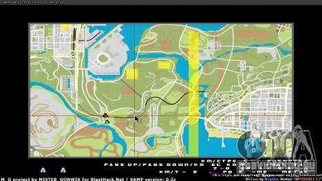 Карта в реальном времени для GTA San Andreas второй скриншот