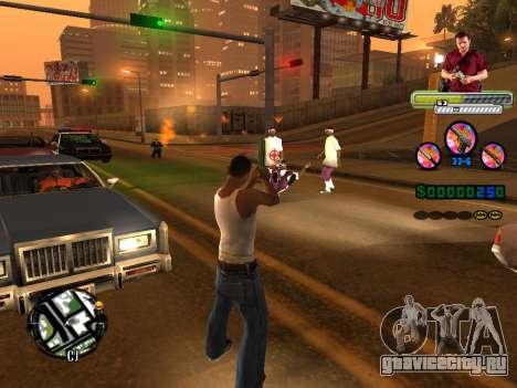 C-HUD Michael (GTA V) для GTA San Andreas шестой скриншот