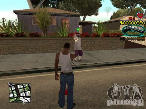 C-HUD Guns для GTA San Andreas третий скриншот